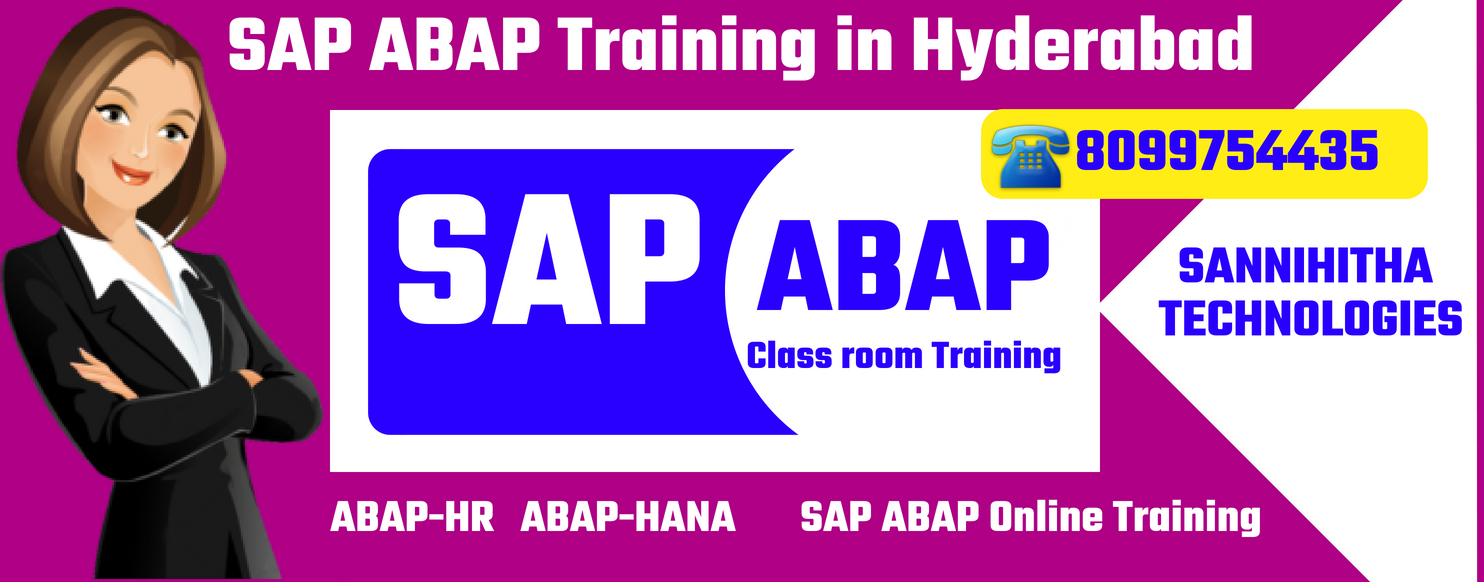 SAP ABAP Training in Hyderabad Ameerpet