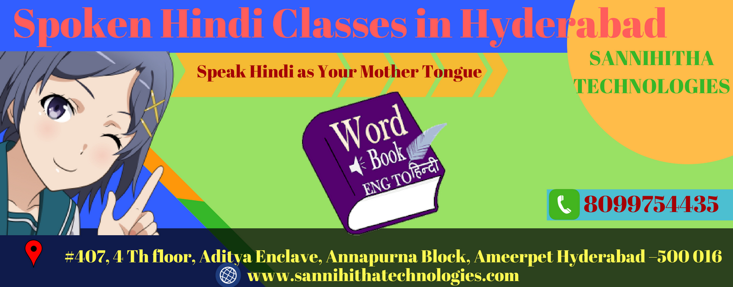 Spoken Hindi Classes in Hyderabad Ameerpet